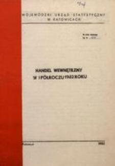 Handel wewnętrzny w I półroczu 1982 roku