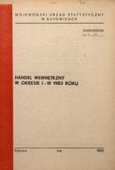 Handel wewnętrzny w okresie I-III 1983 roku