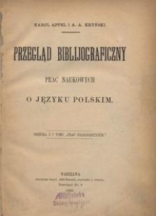 Przegląd biblijograficzny prac naukowych o języku polskim