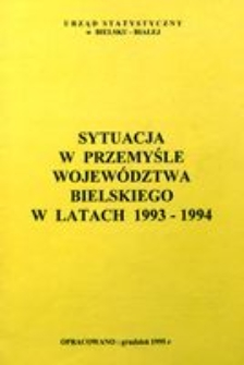 Sytuacja w przemyśle województwa bielskiego w latach 1993-1994