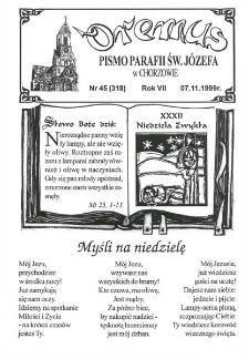 Oremus, R. 6, nr 45 (318), 1999