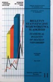 Biuletyn Statystyczny Województwa Śląskiego, 1999, nr11