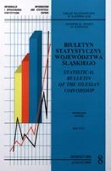 Biuletyn Statystyczny Województwa Śląskiego, 2000, nr8
