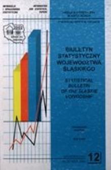 Biuletyn Statystyczny Województwa Śląskiego, 2000, nr12