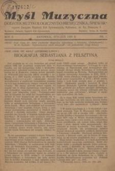 Myśl Muzyczna, 1929, R. 2, nr 1