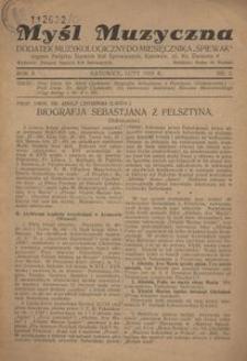 Myśl Muzyczna, 1929, R. 2, nr 2