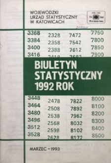 Biuletyn Statystyczny 1992 Rok