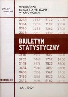 Biuletyn Statystyczny, 1992, nr 5