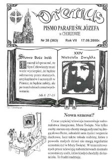 Oremus, R. 7, nr 38 (363), 2000