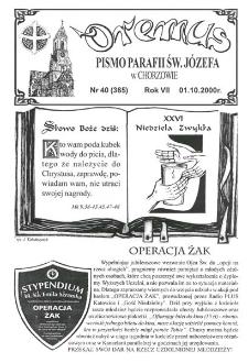 Oremus, R. 7, nr 40 (365), 2000