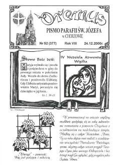 Oremus, R. 7, nr 52 (377), 2000