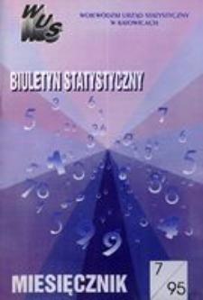 Biuletyn Statystyczny. Miesięcznik, 1995, nr 7