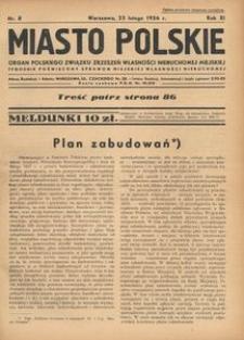 Miasto Polskie. Organ Polskiego Związku Zrzeszeń Własności Nieruchomej Miejskiej. Rocznik XII. Rok 1936, nr 8
