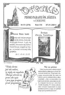 Oremus, R. 8, nr 1 (379), 2001