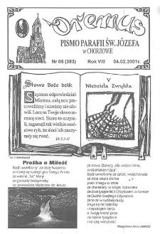 Oremus, R. 8, nr 5 (383), 2001