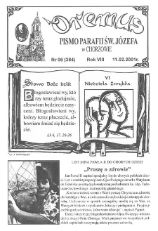 Oremus, R. 8, nr 6 (384), 2001