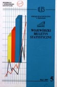 Wojewódzki Biuletyn Statystyczny, 1997, nr 5