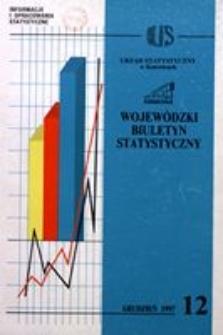 Wojewódzki Biuletyn Statystyczny, 1997, nr 12