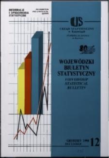 Wojewódzki Biuletyn Statystyczny, 1998, nr 12
