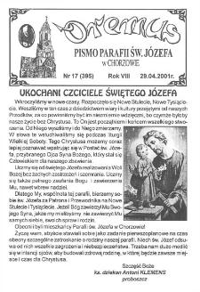 Oremus, R. 8, nr 17 (395), 2001