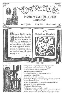 Oremus, R. 8, nr 27 (405), 2001