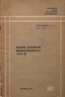 Bilans zasobów mieszkaniowych 1973 r.