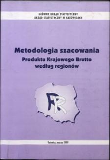 Metodologia szacowania Produktu Krajowego Brutto według regionów