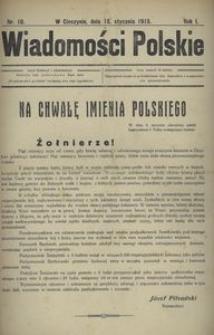 Wiadomości Polskie 1915, nr 10