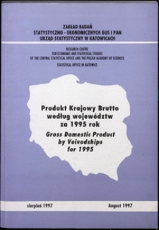 Produkt Krajowy Brutto według województw za 1995 rok. Obliczenia eksperymentalne