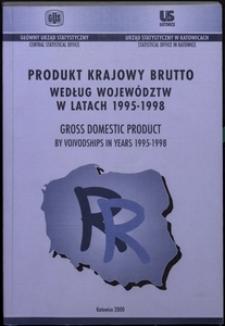 Produkt Krajowy Brutto według województw w latach 1995-1998