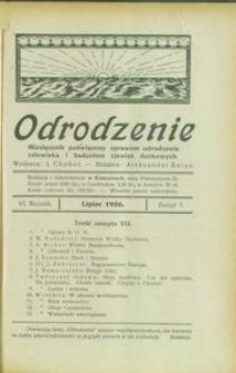 Odrodzenie, 1926, R. 6, z. 7