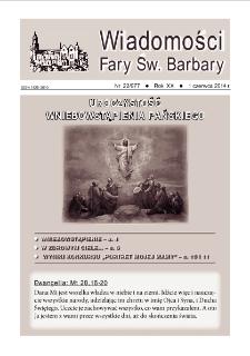 Wiadomości Fary Św. Barbary, 2014, R. 20, nr 22
