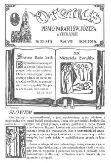 Oremus, R. 8, nr 33 (411), 2001