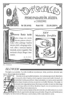 Oremus, R. 8, nr 38 (416), 2001