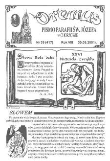 Oremus, R. 8, nr 39 (417), 2001