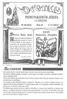 Oremus, R. 8, nr 45 (423), 2001