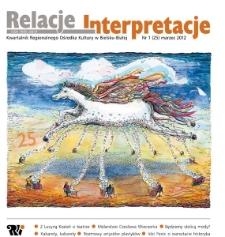 Relacje-Interpretacje, 2012, nr 1 (25)