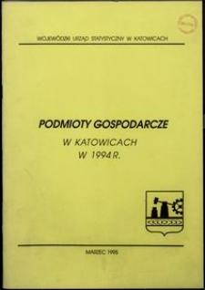 Podmioty gospodarcze w Katowicach w 1994 r.