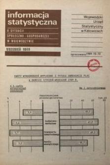 Informacja o realizacji ważniejszych zadań społeczno-gospodarczych w województwie, 1989, nr 9