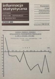 Informacja statystyczna o sytuacji społeczno-gospodarczej w województwie, 1990, nr 1
