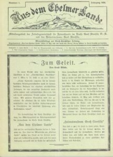 Aus dem Chelmer Lande, 1928, [Jg. 4], nr 1