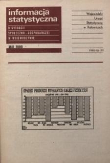 Informacja statystyczna o sytuacji społeczno-gospodarczej w województwie, 1990, nr 5