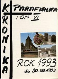[Kronika parafii w Górze. Kościół św. Barbary.] Tom 6 (1993)