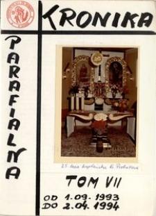 [Kronika parafii w Górze. Kościół św. Barbary.] Tom 7 (1993-1994)