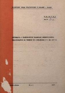 Informacja o ważniejszych zadaniach inwestycyjnych realizowanych na terenie woj. bielskiego w I kw. 1977 r.