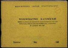 Województwo katowickie. Zbiór danych liczbowych charakteryzujących sytuację społeczno-ekonomiczną ludności w latach 1981–1988