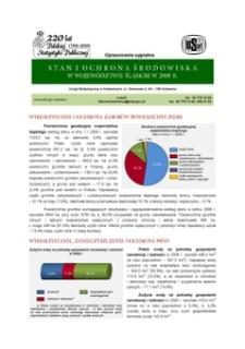 Stan i ochrona środowiska w województwie śląskim w 2008 r.