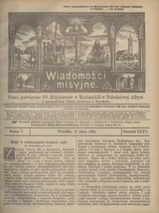 Wiadomości Misyjne, 1924, R. 35, nr 7