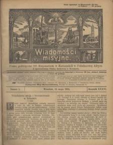 Wiadomości Misyjne, 1925, R. 36, nr 5