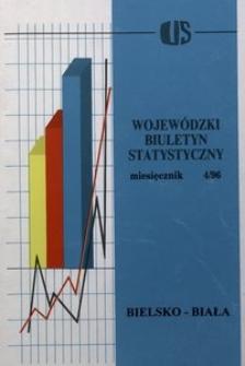 Wojewódzki Biuletyn Statystyczny, 1996, nr 4